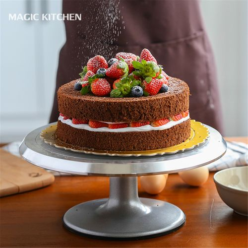 蛋糕转盘高档生日抹面工具家用烘焙套装手办铝合金裱花转台