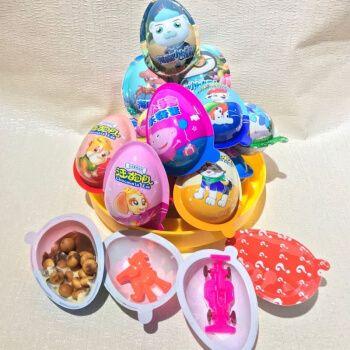 奇趣蛋玩具巧克力玩具趣味蛋10枚曲奇蛋儿童零食趣趣蛋 汪汪队桶装24