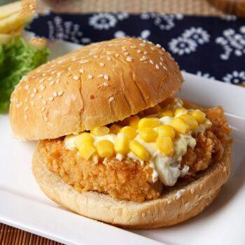 早餐汉堡包老鸡肉卷奥尔良鸡腿堡劲脆微波加热即食冷冻 五个汉堡