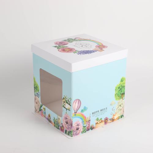 生日蛋糕盒透明六 八寸10 12寸双层加高西点烘焙蛋糕
