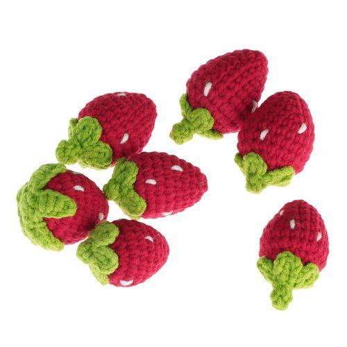 饰品编织毛线乐手工挂摆草莓织勾玩偶包件线材料钩针