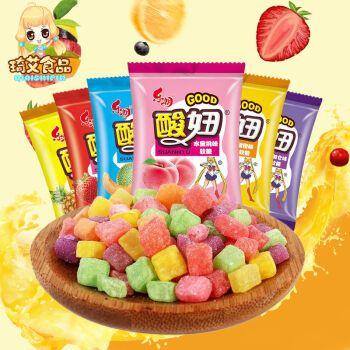 酸妞软糖水果糖多口味橡皮糖糖果童年怀旧休闲零食150