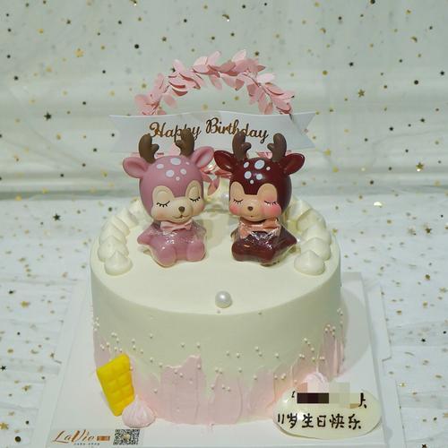 ins小鹿宝宝蛋糕(图片为6寸效果)