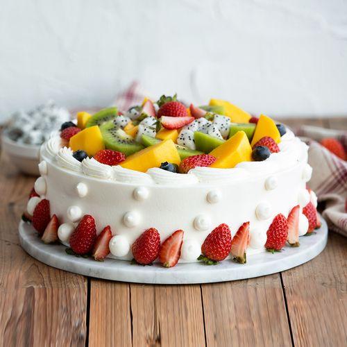 【盛放鲜果季,水果蛋糕直降50元】浪漫果纷蛋糕-2磅