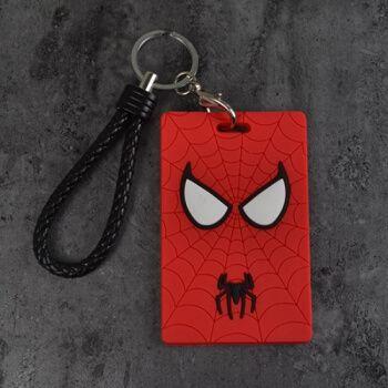 卡套钥匙扣硅胶卡通学生饭卡证件门禁卡地铁月票卡套软 红色