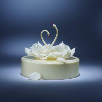 黑天鹅生日蛋糕预定- 曼舞 - 树莓玫瑰荔枝巧克力同城