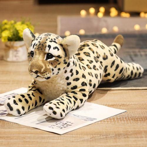 仿真毛绒玩具抱睡公仔可爱狮子玩偶布娃娃小号金钱豹子抱枕男女