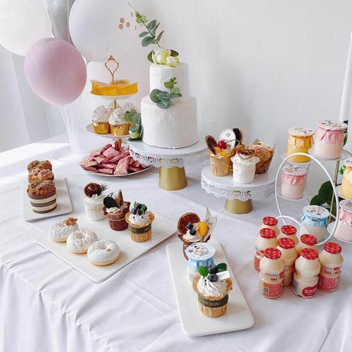 陶瓷蛋糕盘摆台甜品台摆件展示架套装下午茶蛋糕架