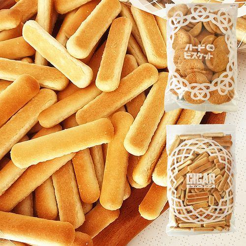 日本进口零食品北陆制果hokka脆圆手指饼干点心糕点下午茶140g/袋