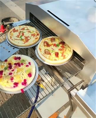 户外摆摊现场制作燃气烤披萨机器移动小吃设备创业网