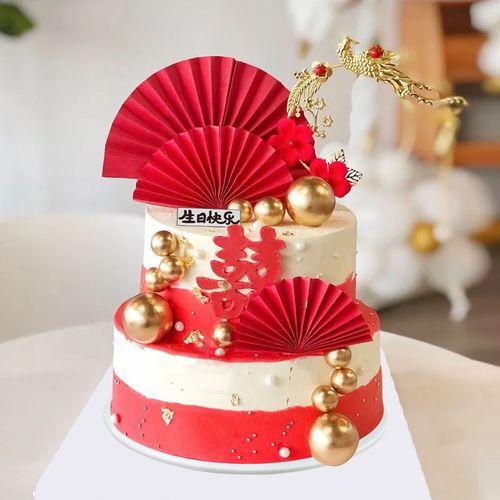 2021仿真生日蛋糕模型网红流行订婚婚礼生日假蛋糕