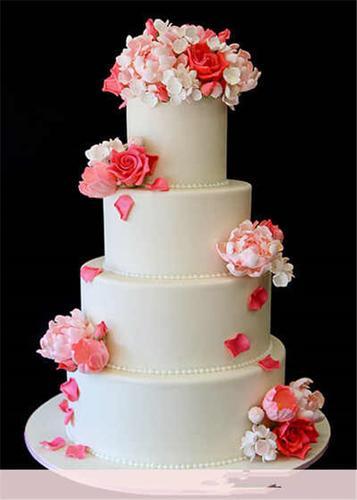 仿真翻糖玫瑰插花多层翻糖蛋糕模型 生日蛋糕婚庆蛋糕
