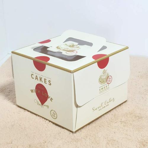 四寸4寸568寸蛋糕盒手提便携蛋糕盒子包装盒慕斯盒甜品盒蛋糕盒