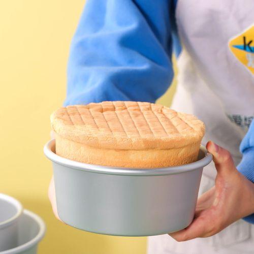 戚风蛋糕模具阳极活底家用烤箱做慕斯活底烘焙工具模具8英寸