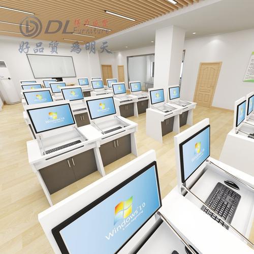 学校多媒体教室双人电脑课桌椅计算机房学生培训班