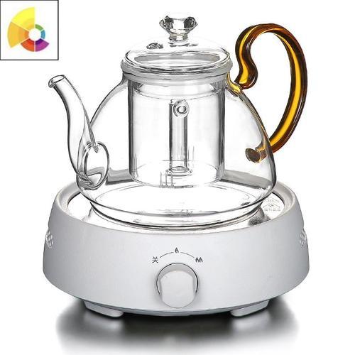 花茶壶玻璃泡水果茶杯套装家用花茶杯煮茶器耐高温加热下午茶茶具