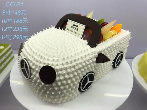 cc674 卡通奔驰小汽车奶油蛋糕