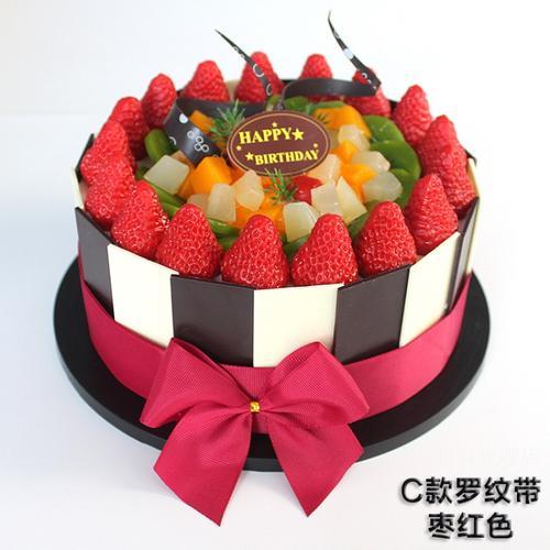 4cm厘米慕斯蛋糕围边蝴蝶结装饰彩带蛋糕烘焙装饰花布