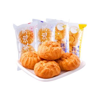 泡芙奶油爆浆蛋糕乳酸菌早餐面包西式糕点小吃零食点心4斤整箱 牛奶味