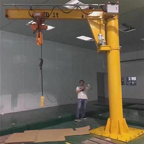 空间单钩加固f摆臂建房升高起重电葫芦小型摇臂吊机独臂吊平台旋