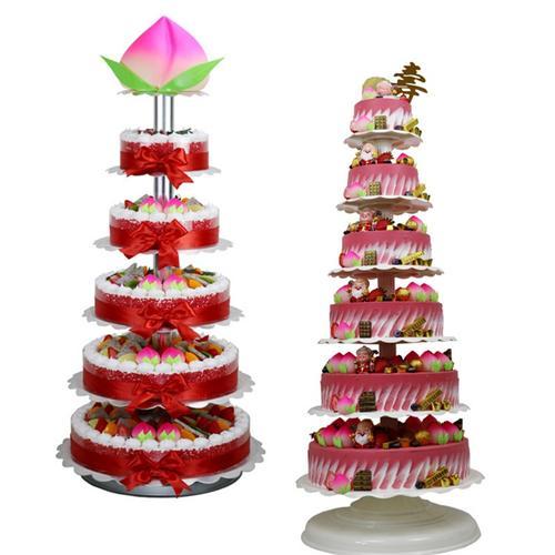 祝寿6层架子蛋糕塔铝合金新款仿真多层模型生日宴会