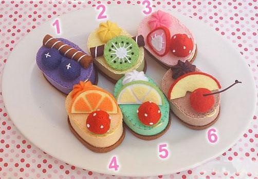 不织布椭圆蛋糕派布艺免裁剪材料包 幼儿园小甜点心手工制作业diy