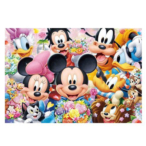 印花纯棉dmc十字绣客厅儿童房动漫卡通迪士尼 米奇米妮和朋友们