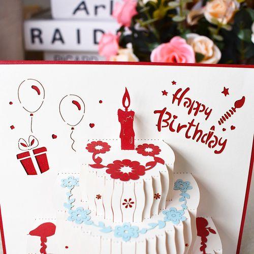 生日卡片可写的生日贺卡小卡简约空白美观小卡片感谢