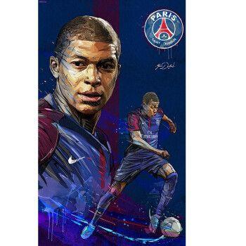 基利安·姆巴佩巴黎圣日尔曼球星世界杯冠军法国前锋足球明星海报 nb