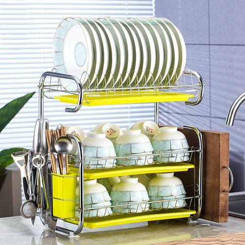 厨房置物架沥水碗碟架碗柜用品用具收纳架碗筷放盘子