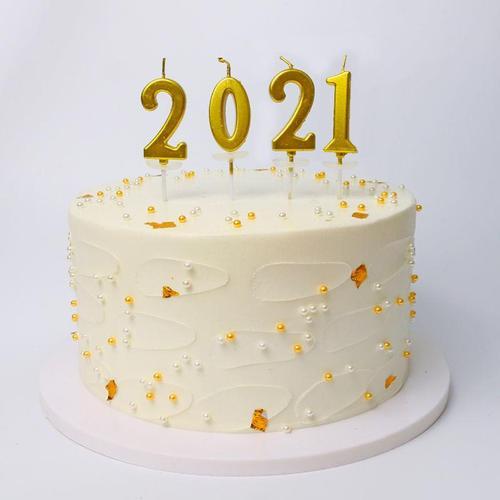 大号金色数字宝宝生日蛋糕蜡烛包装无烟创意派对