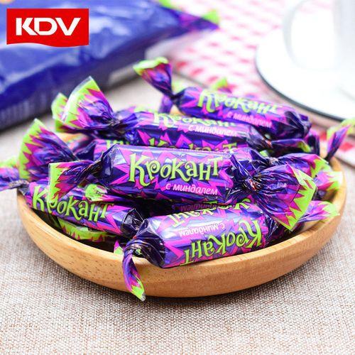 kdv俄罗斯进口紫皮糖180g*3袋巧克力礼物糖果零食过年