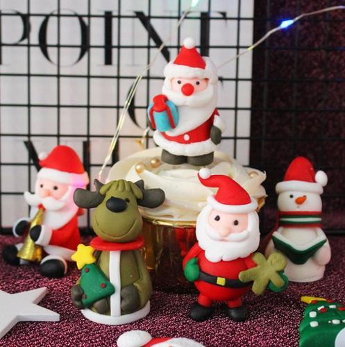 圣诞蛋糕装饰圣诞树麋鹿圣诞老人圣诞节雪人铃铛装饰