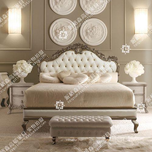 定制美式乡村实木床 双人床雕花别墅会所大床复古新古典法式婚床