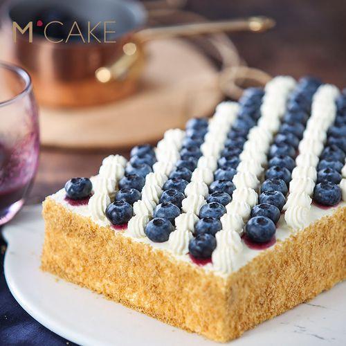 mcake蓝莓拿破仑蛋糕千层酥水果创意生日蛋糕