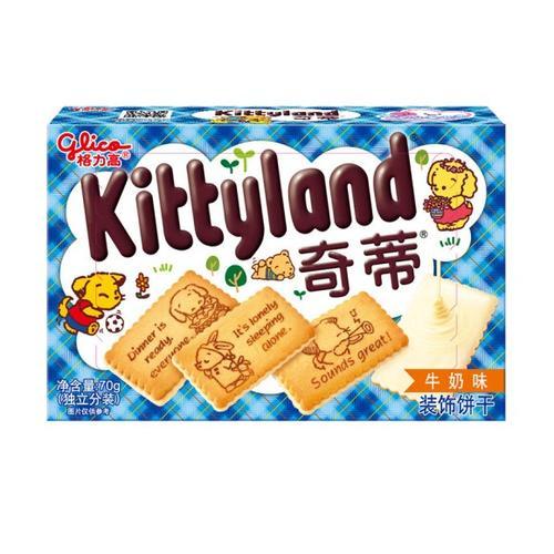 格力高奇蒂牛奶味饼干70g*1盒