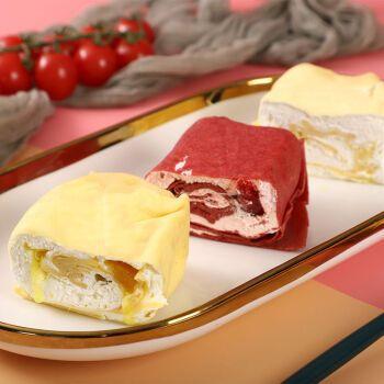 西式蛋糕慕斯奶油甜品下午茶甜点糕点零食 草莓+芒果+提拉米苏+蓝莓