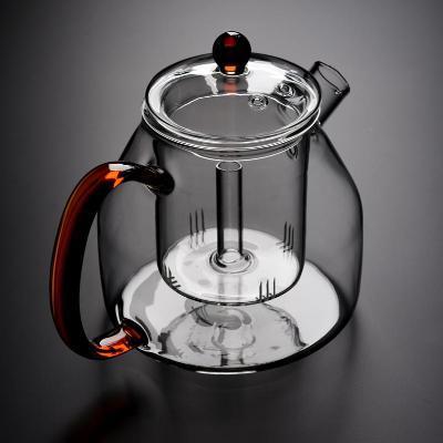 加厚耐高温全玻璃蒸茶壶大容量蒸汽煮茶器家用单壶大号泡茶壶套装