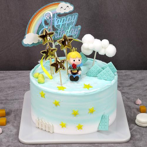 小王子蛋糕模型仿真2021新款网红儿童生日创意卡通假
