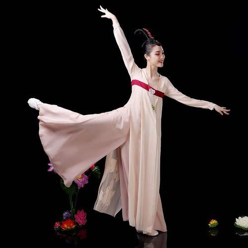 高档汉服女丽人行改良束腰襦裙古装飘逸仙女古典舞演出服成人舞蹈