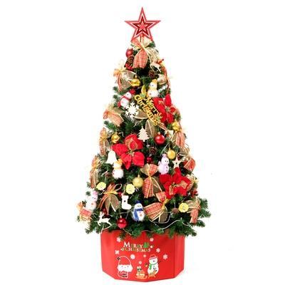 圣诞树1.5米场景2.4圣诞节店面家用店铺套餐橱窗前台