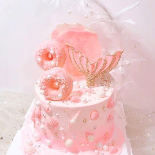 ins海洋风系列烘焙蛋糕装饰鱼尾硅胶磨具鱼尾巴巧克力翻糖印模