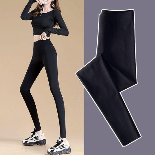 景介打底裤女薄款外穿秋季新款黑色显瘦瑜伽小脚高腰裤子骑行健美裤