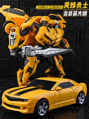 儿童变形玩具 金刚大黄蜂合金正版擎天男孩柱大力神