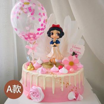 儿童蛋糕网红q版白雪公主生日蛋糕卡通创意定制全国同城配送广州