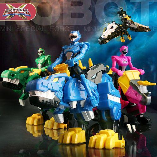 迷你特工队x恐龙机甲超级力量新款变形武器套装全套