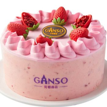 元祖 ganso 动物奶油慕思蛋糕 生日蛋糕同城配送 春莓