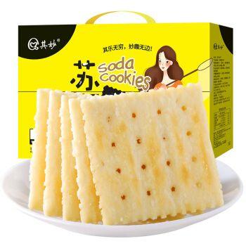 香葱苏打饼干早餐饼干整箱梳打咸味低无蔗糖零食散装多口味脂食品
