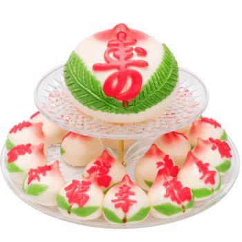 寿盈门寿桃馒头生日蛋糕长辈送礼寿包寿桃祝寿贺寿传统手工糕点面食