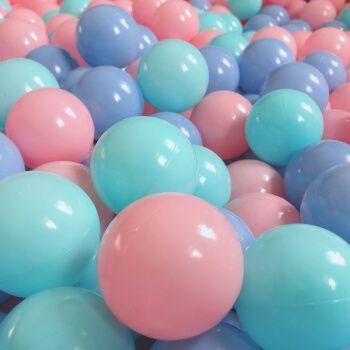 海洋球婴儿儿童玩具球儿童马卡龙海洋球彩色玩具球海洋球池 马卡三色